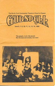 Godspell program_1980